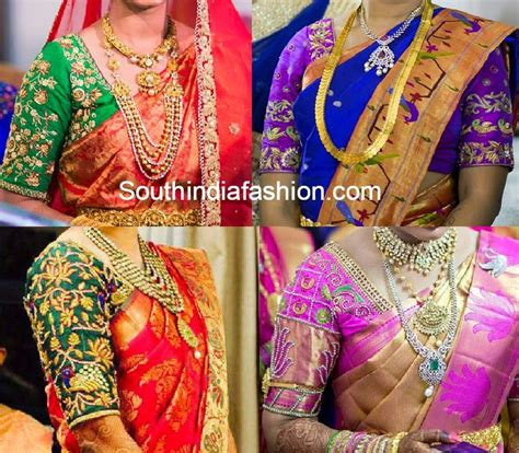 blouse designs for traditional silk sarees