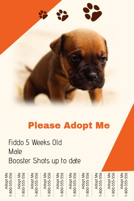 Dog Adoption Template   PosterMyWall
