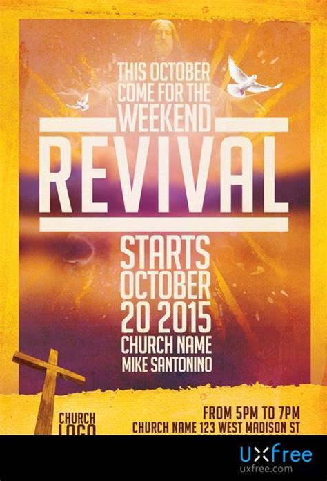 Church Revival Flyer Template – UXFree