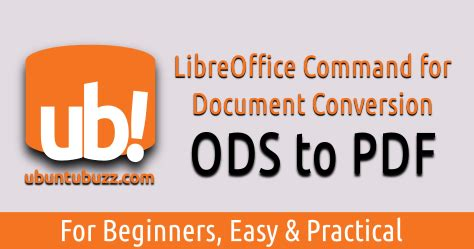 LibreOffice Command Line: Convert Multiple Files ODS to PDF