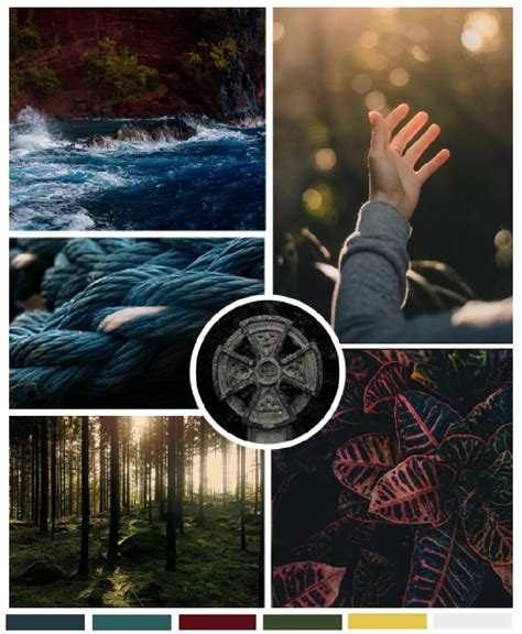 Nature inspired, calm, peaceful, enlightening mood board