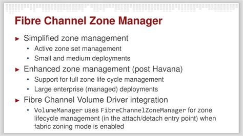 PPT - Orchestration of Fibre Channel Technologies for