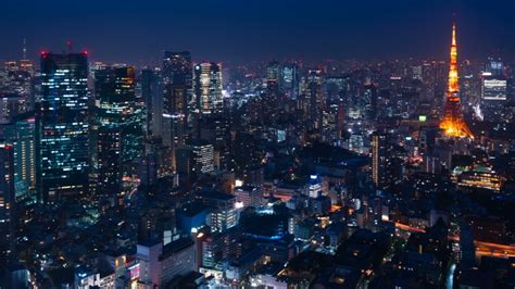 Tokyo Night View Timelapse 2019 Stock Footage Video (100%