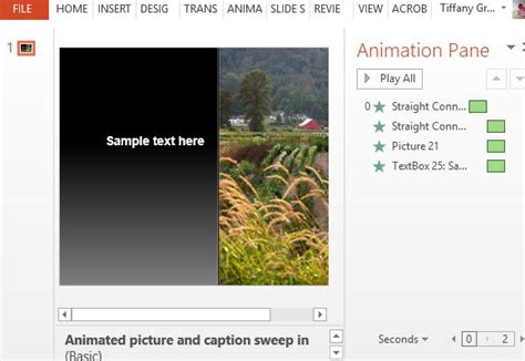 Free Caption Sweep Animation Template for PowerPoint