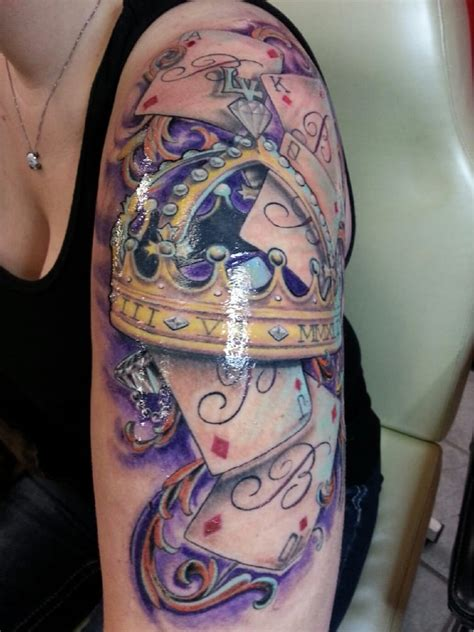 Royal flush outer half-sleeve by Chris Gomez