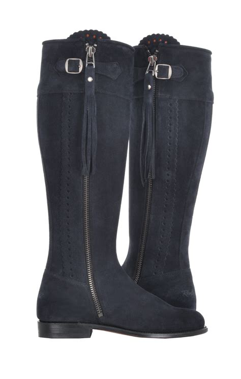 Really Wild Suede Spanish Boots Available in Black, Navy