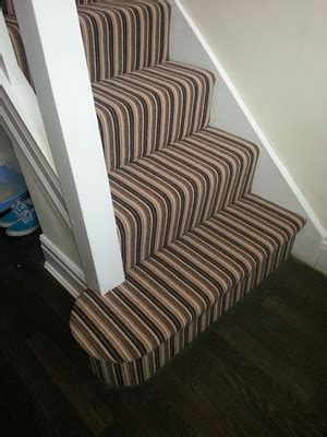 Striped Stairs and Landing Carpet in Stockport   Out