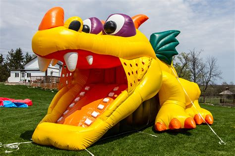 Dragon Hide-n-Slide Toddler Combo - Air Bounce Inflatables