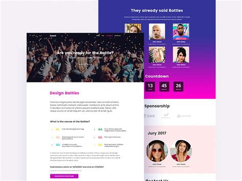 Event Webpage Template - Free Resource - Freebie Supply
