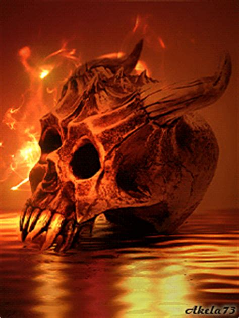 Burning Skull Animated Gifs at Best Animations