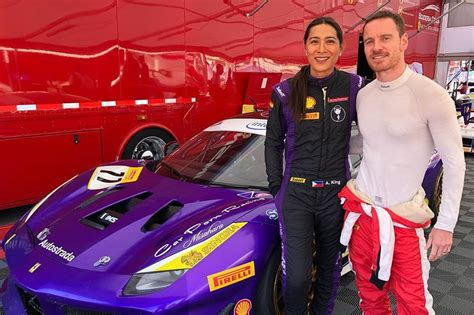 LOOK: Angie King meets Michael Fassbender at race event in