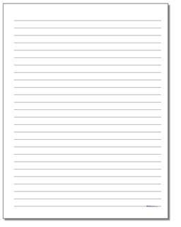 Handwriting Paper: Printable Lined Paper