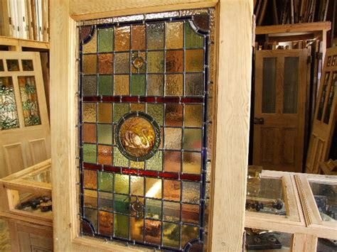 Original Victorian Stained Glass Front Door - Stained