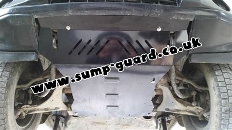 Steel sump guard for the protection of the engine and the