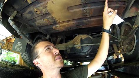 1 - Remove old gas tank from a 1967 MGB 1 - YouTube