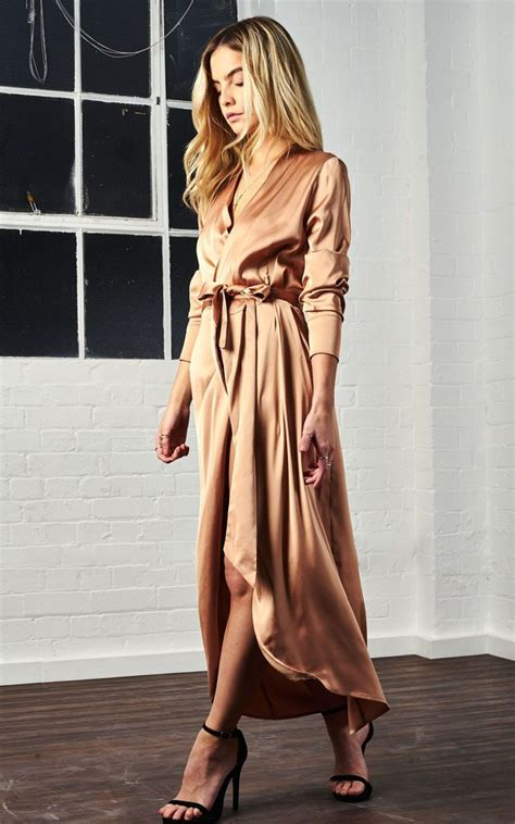 Satin Maxi Gold | Never Fully Dressed | SilkFred | Satin