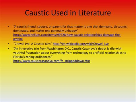 PPT - Caustic PowerPoint Presentation, free download - ID