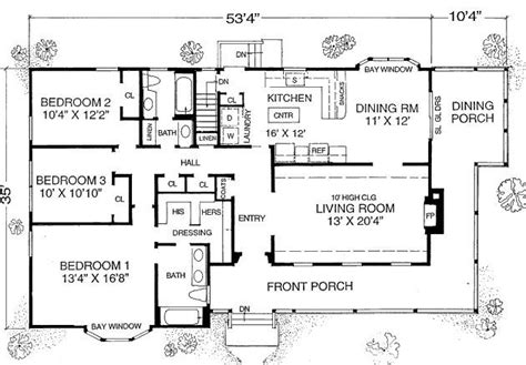 Country Style House Plan - 2 Beds 2 Baths 1588 Sq/Ft Plan