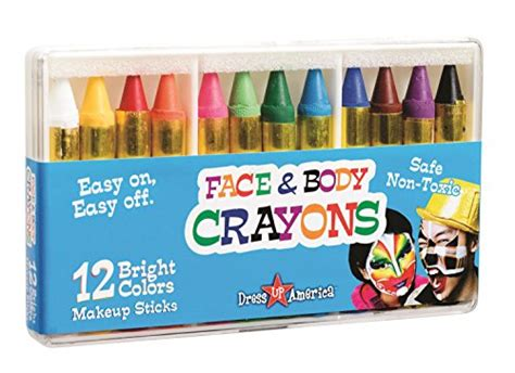 Dress Up America 12 Color Face Paint Safe Non-Toxic Face