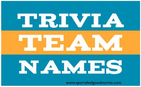Best Trivia Team Names | The Good, the Bad and the Creative