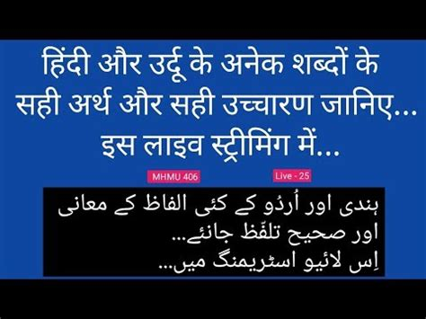 Ask Any Urdu Hindi Word's Meaning   LIVE 25 - YouTube