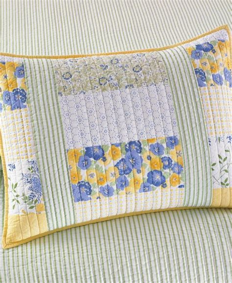 Martha Stewart Collection Blue & Yellow Patchwork Posey