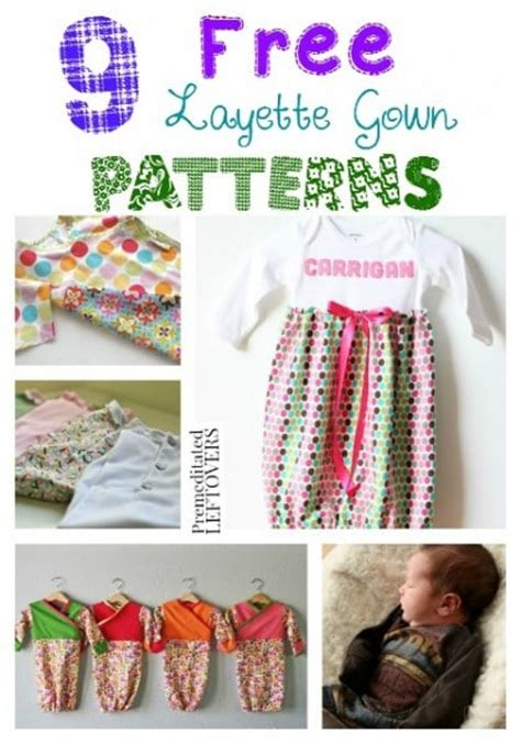 9 Free Layette Gown Patterns