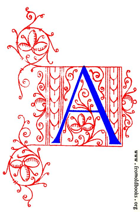 Decorative initial letter A from fifteenth Century Nos