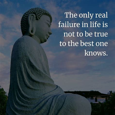 The only real failure in life