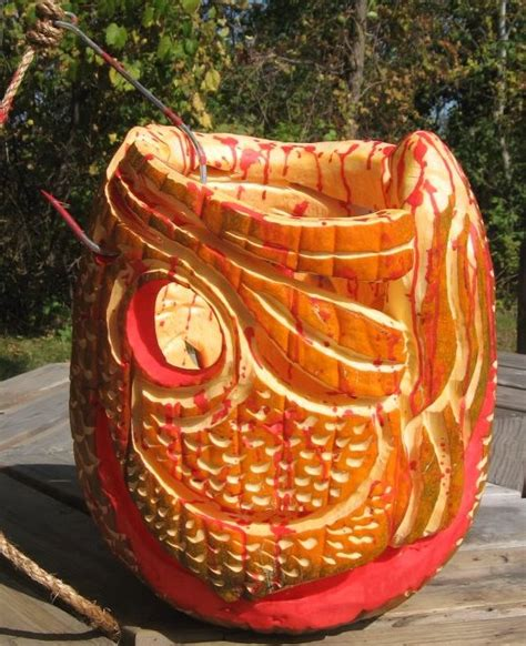 """15 """"Fishing"""" Pumpkin Carvings You Have To See To Believe"""