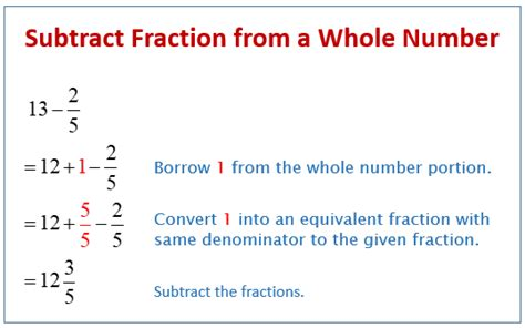 Subtracting Fractions With Whole Numbers - slideshare