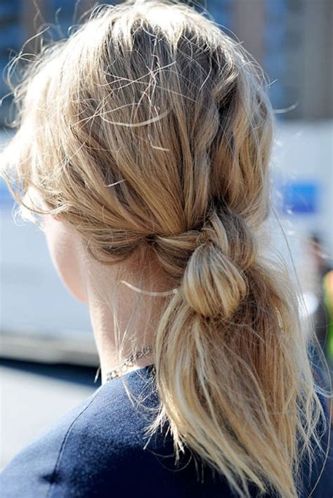 Back view of Double Hair Knot - Hair Knot Ponytail