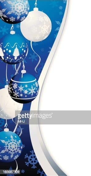 Blue And Silver Christmas Bauble Snowflake Swirl Side