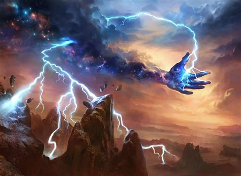 MtG Art: Lightning Strike from Theros Set by Adam Paquette