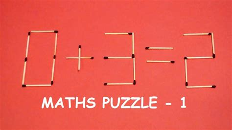Try to SOLVE this Matchstick puzzle   Maths puzzle - 1