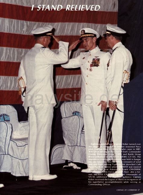 USS Midway (CV 41) WestPac Cruise Book 1984-85 - Change of