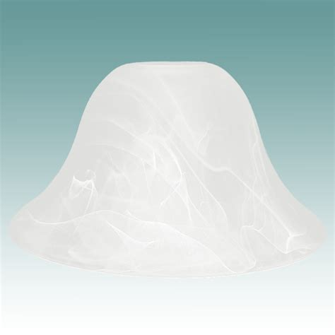 #7789 - Large Faux Alabaster Bell Shade - Glass Lampshades