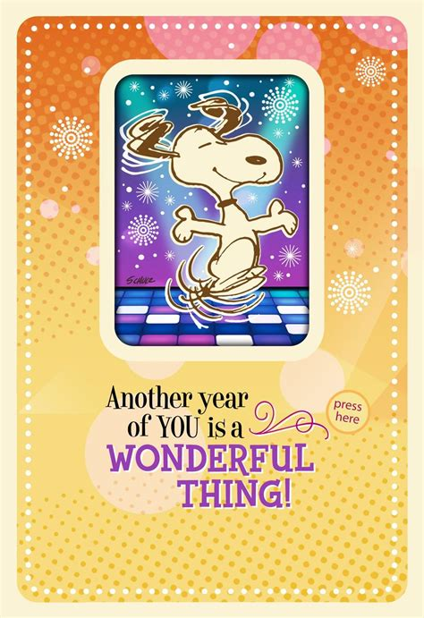 Peanuts® Snoopy Happy Dance Musical Birthday Card With