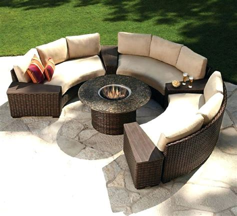 Lovely Patio Furniture With Gas Fire Pit Table Persono