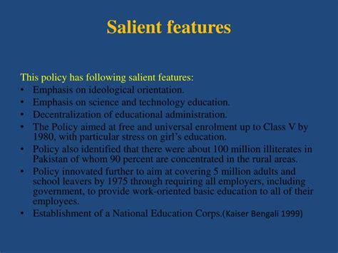 PPT - Education Policies and Implementation in Pakistan