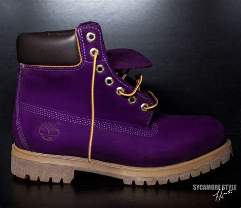 """purple timberland boots for women   Image of """"Eggplant"""