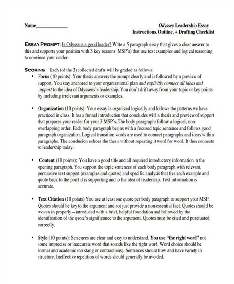 FREE 32+ Sample Essay Outlines in PDF   DOC   Examples