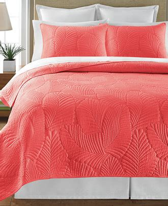 Martha Stewart Collection Atlantic Palm Coral Full/Queen