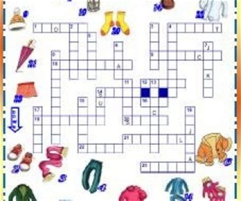 Clothes - Picture Crossword