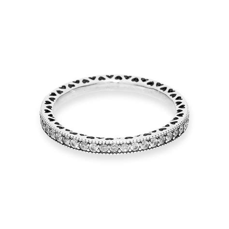 Hearts of Pandora Ring with Cubic Zirconia