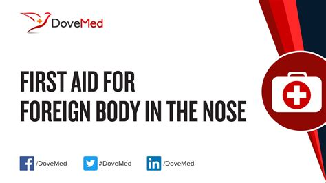 First Aid for Foreign Body in the Nose
