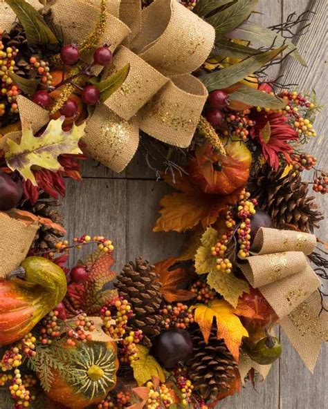 Craft a beautiful wreath for Thanksgiving to welcome the