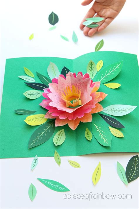 Make a Birthday Card with Pop Up Watercolor Flower {Free