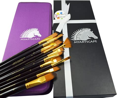 Paint Brushes - 15 Pc Brush Set for Watercolor, Acrylic