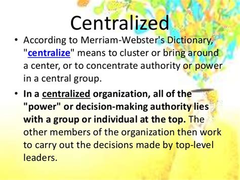 The difference between centralized and decentralized education